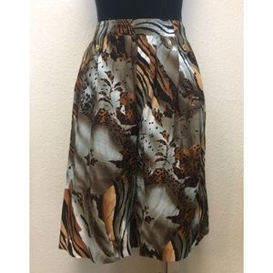 {Jordana} vintage boho animal print flowy shorts